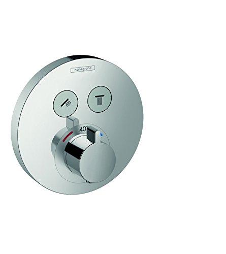 2 Durchlauferhitzer (hansgrohe ShowerSelect S Unterputz Thermostat, 2 Verbraucher, chrom)