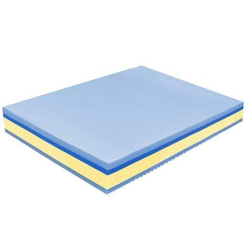 Baldiflex - Materasso Matrimoniale Memory Plus Top 4 Strati 160 x 195 cm Alto 25 cm - Rivestimento Sfoderabile Silver Safe Cus. Saponetta incl., ipoallergenico, poliuretano