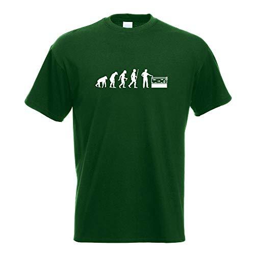 Kiwistar Aquaristik Fische Evolution T-Shirt Motiv Bedruckt Funshirt Design Print