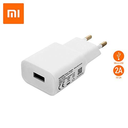 Cargador Original Xiaomi MDY-08-EO (5V/2A) para Redmi, Mi, Note, 3, 3S, 4, 4X, 5, 5A, Bulk (Blanco)
