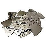 PENNYCREEK-Alice Stainless Steel(Metal) Guitar Picks, Triangle, Set of 5