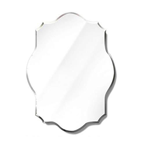 Specchio del Supporto della Parete, Specchio della Stanza da Bagno della Decorazione della Camera da Letto del Bagno Specchio Creativo Smussato Smussato del Poligono (Formato: 50 * 70cm)