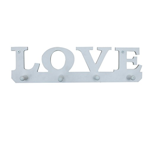 OUNONA Madera Perchero Letras Love - Perchero Pared