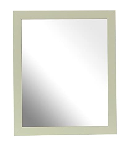 Inov8 Lot de 2 miroirs traditionnels britanniques Jaune canari 25,4 x 20,3 cm, Verre, Heritage Green, 25 x 20 cm