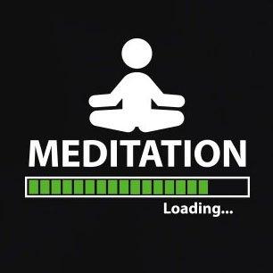 TEXLAB - Meditation Loading - Langarm T-Shirt Schwarz