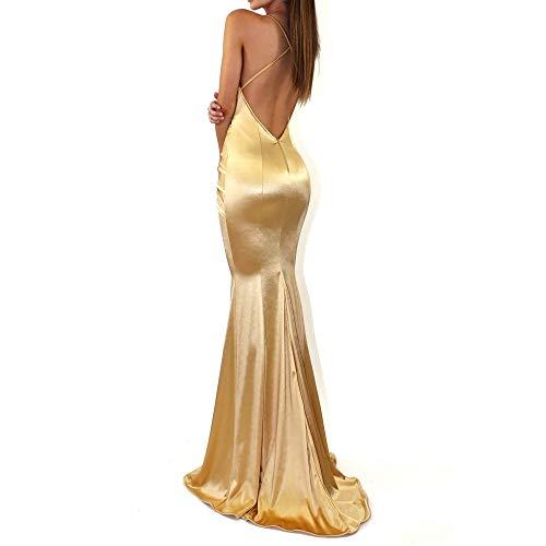 1fe9b955a8f7 Vestiti Donna Eleganti Lunghi da Sera Sirena Halterneck Vestiti Donna  Lunghi Abito - Sexy Scollo V