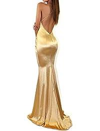c56f8938ebe9 Vestiti Donna Eleganti Lunghi da Sera    Sirena Halterneck Vestiti Donna  Lunghi Abito - Sexy