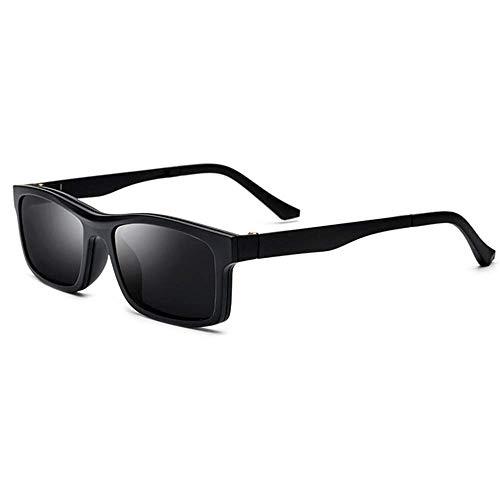 BJYG Sport-Sonnenbrille TR90 Half Frame Polarized Sunglasses Mirrored Glasses Frame Laufen, Reiten, Angeln Sonnenbrillen (Farbe: Schwarzer Rahmen grau Stück, Größe: Free)