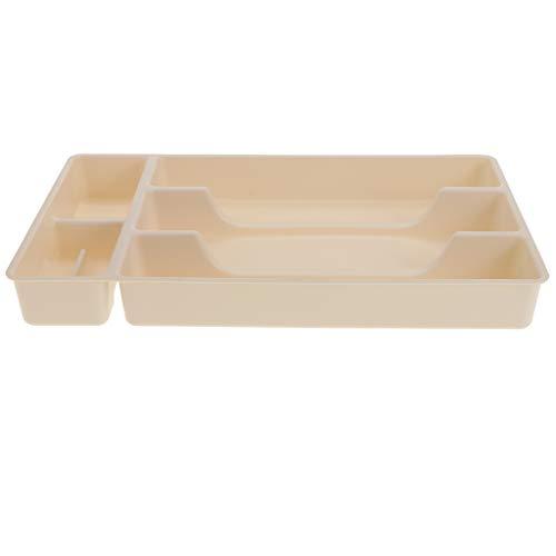 F Fityle Schreibtisch Schreibwaren Organizer Kleinigkeiten Aufbewahrungsbox Fall Schmuck Commodity Display Tray, 3 Farben zur Auswahl - Weiß Display Tray Fall