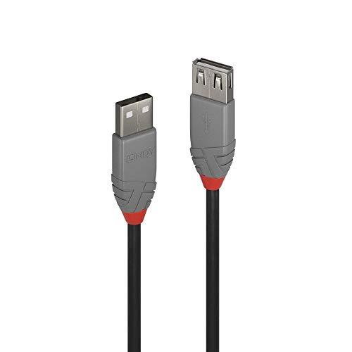 LINDY 36702 1m USB 2.0 Typ A Verlängerungskabel, Anthra Line Anthrazit -