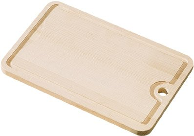 Fackelmann Tranchierbrett, Buche-Schneidbrett, Frühstücks- oder Brotzeitbrett, bruch- und schnittfestes Holz-Brettchen (Farbe: Braun), Menge: 1 Stück