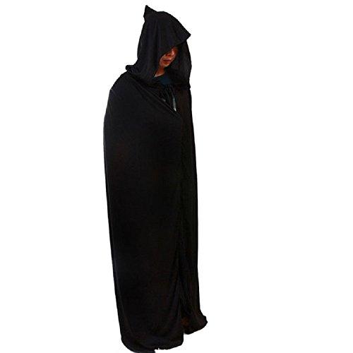 en Kostüm Theater Mantel Teufel schwarzes Design prop Tod hoody lange Pelerine Kap (Schwarzer Teufel Für Halloween)