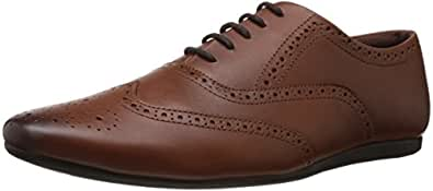 Carlton London Men's Justin Tan Leather Formal Shoes - 11 UK (CLM-1173)
