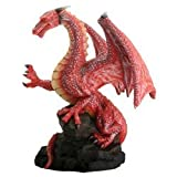 Summit Stealstreet Dragon Rouge sur un rocher Fantasy figurine