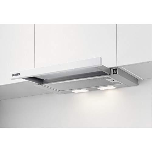 Zanussi ZHP60260WA Flachschirm-Dunstabzugshaube/Abluft oder Umluft / 60cm / Weiß/max. 120 m³/h/min. 68 - max. 72 dB(A)