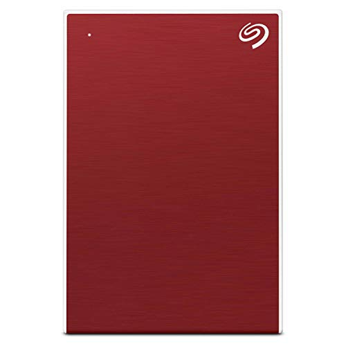 Seagate Backup Plus Slim 1TB External Hard Drive Portable HDD - Red USB 3.0 for PC Laptop and Mac, 1 Year Mylio Create, 2 Months Adobe CC Photography (STHN1000403)