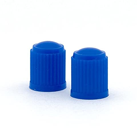 Blue Plastic Tyre Valve Dust Caps for Cars, Motorcycles, Scooters, Pit, Monkey & Quad Bikes