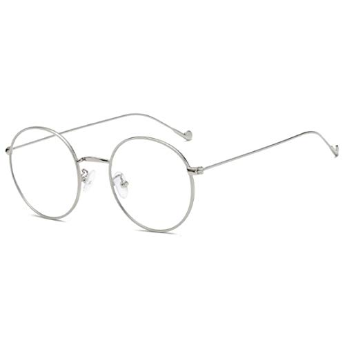 MUCHAO Fashion Unisex Vintage Vollmetall-runder dünner Rand-Rahmen-optische Gläser