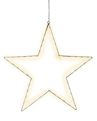 Star Silhouette Lumiwall, 54 warmweisse LED, Metall, silber, 3.5 x 50 x 50 cm