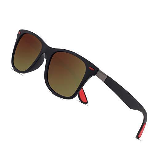 af35752bb80d Sunmeet Polarisierte Sonnenbrillen Herren Damen Retro Fahren Elastizität  Outdoor Eyewear Sonnenbrillen S1003(Braun)
