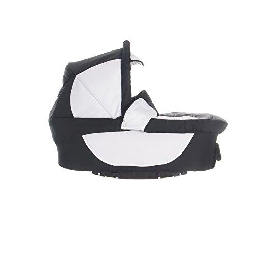 Bebebi | Modell Sidney | Luftreifen in Schwarz | 3 in 1 Kombi Kinderwagen | Farbe: Sydney