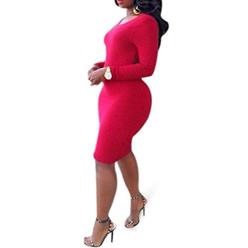 Pinkyee Damen Kleid Small Rot