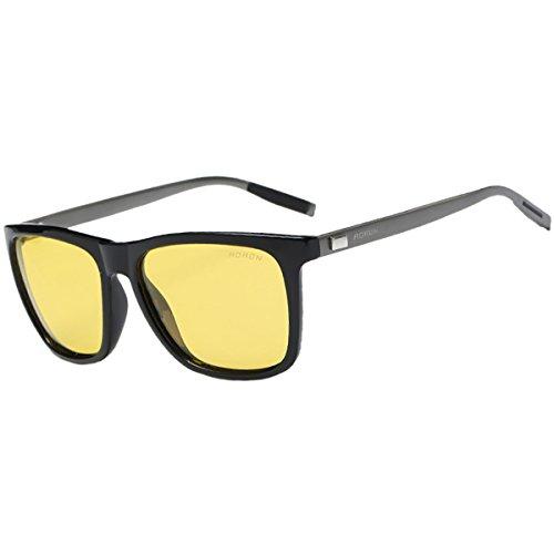 FEIDU Sonnenbrille Herren Polarisierte für Männer Sonnenbrillemänner der Frauen 100% UV400 Schutz für Golf, Fahren, Sport im Freien, Fischen.FD9003 (Gelb, 50)