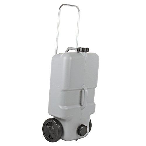 Abwasser Rolltank 25 Liter mit Rollen, ausziehbarer Griff, Grau, ideal für Wohnwagen