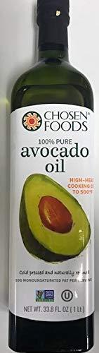 Chosen Foods 100% Avacado Cooking Oil – 1ltr Bottle (33.8fl) (Single Bottle) by Chosen Foods