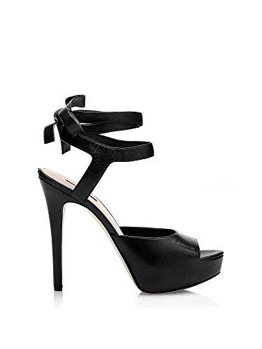 Guess FLKAS1 LEA07 Sandalo tacco Donna Nero