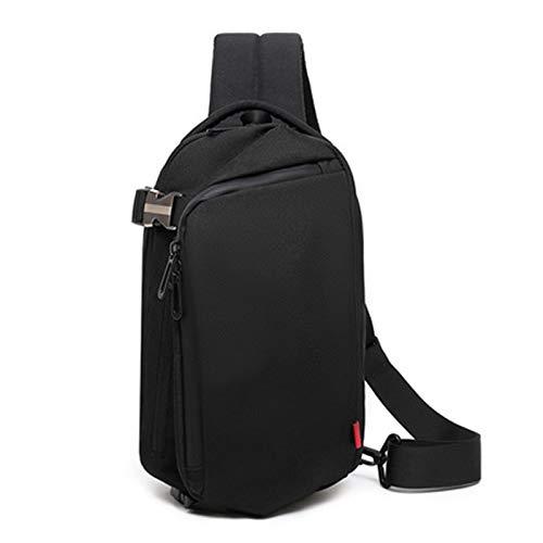 KBFDWEC Männer Brusttaschen Männliche Schulter Umhängetasche Messengers Business Travel Wasserdicht Cross Body Sonnenbrillen Strap Sommer Packs, Schwarz
