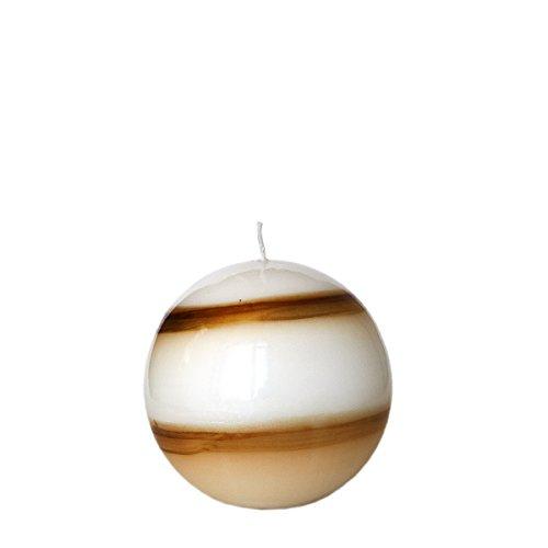 Bola Vela 9,5cm 2Vela Colores Tornado Color Blanco lacado color marrón