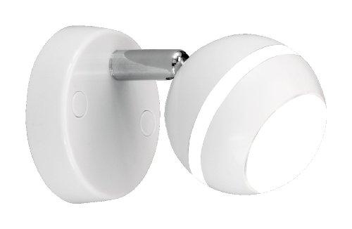 Trio Leuchten LED-Spot in Kunststoff weiß glänzend, inklusive 1x 4.2W LED, ø 8 cm 828210101