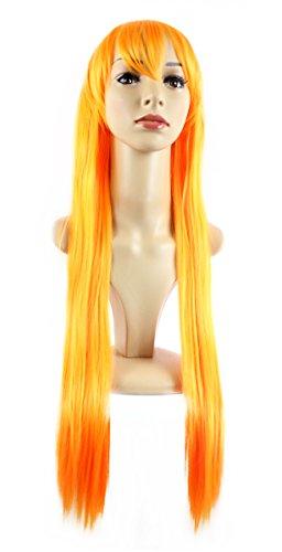 (Xiaoyu lange gerade Haar cosplay Kostüm Partei Halloween Perücken - orange)