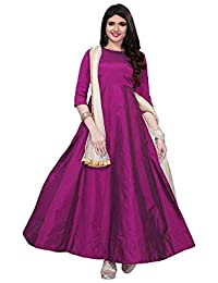 Elexsis Fashion Women s Tapeta Silk Anarkali Fancy Gown. (204 Free Size) 67da0f41f