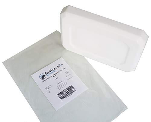 Glycerinseife Rohseife Seifenbasis - Transparent/Weiß (SLS-Frei) (1kg Weiß) - Weiße Bio-seife