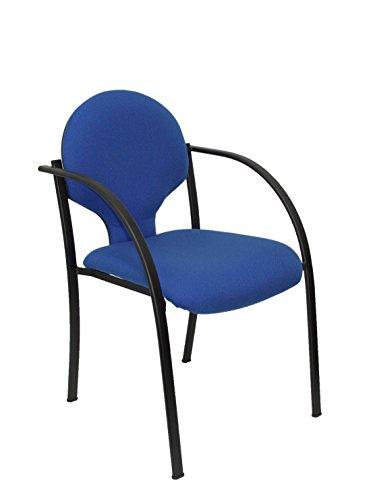 Silla confidente ergonómica con brazos fijos incorporados, apilable y estructura en color...