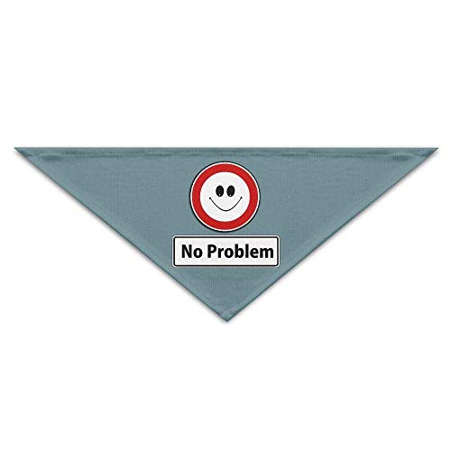 Sdltkhy Smile No Problem Triangle Pet Scarf Dog Bandana Pet Collars Dog Cat - Birthday (Uk Supplies Halloween Großhandel Party)