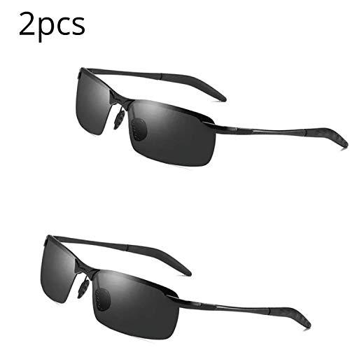 Herren Polarisierte Fahren Sonnenbrillen Sport im Freien Eyewear Unzerbrechlich Spring Scharnier Ultra-light AL-MG Schwarzer Rahmen HD Objektiv für Männer