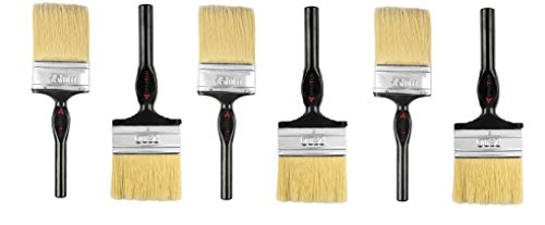 Spartan Paint Brush Wood, Nylon and Metal Multicolour Set of 6 (75 MM) STN