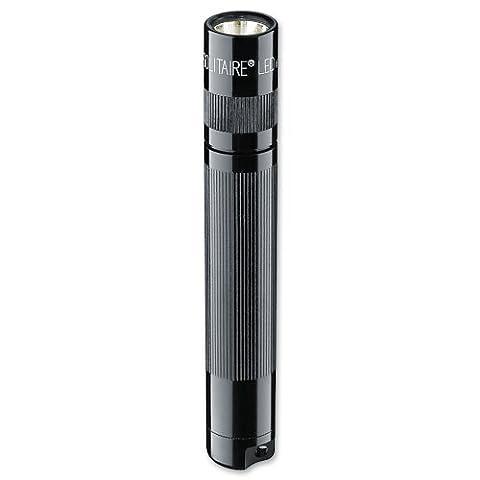 Mag-Lite 8 cm Mini Taschenlampe, LED Solitaire bis zu 37 Lumen, inklusive 1 Micro-Batterie und Schlüsselanhängerschlaufe, schwarz,