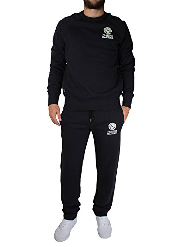 Franklin-Marshall-Mens-Small-Crest-Tracksuit-Black