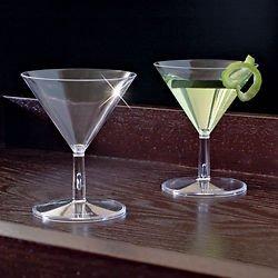 Letzten Schliff Party Store, Kunststoff, 24 Petite Mini Martini Gläser Vorspeisen Desserts Geschenk