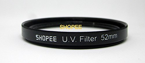 SHOPEE 52MM SAFTEY CLEAR UV LENS FILTER FOR NIKON D3100 D3200 D5000 D5100 D3000 D3300 18-55MM 52MM LENS …  available at amazon for Rs.175