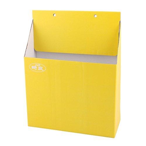 DealMux Papier Home Office Schreibtisch Dekor DIY Makeup Sundries-Halter-Organisator-Aufbewahrungsbehälter-Gelb