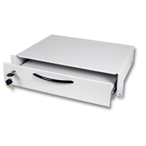 Tastaturschublade 2HE abschliessbar mit 2 Schlüsseln