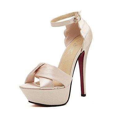 LvYuan Da donnaFormale / Serata e festa-Tacchi / Spuntate / Cinturino alla caviglia-A stiletto-Raso-Nero / Rosa Pink