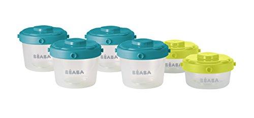 Béaba 912481 - Set de 6 potes de conservación comida para bebés