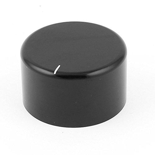 Negro CNC Aluminio Macizo altavoz HIFI Radio Volumen Perillas 38x 22mm