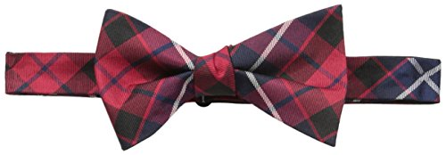 Tommy Hilfiger Men's Large Plaid Self-Tie Bow Tie, black, One Size (Tommy Hilfiger Herren Plaid)